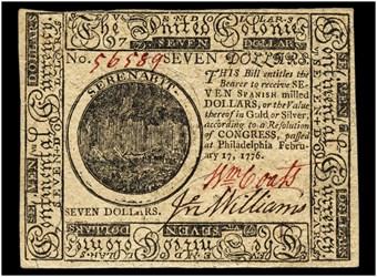 February 17, 1776 $7