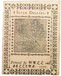 February 26, 1777 $7