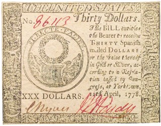 Early Paper Money of America / Continental Currency / 1778 April 11