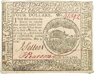 Early Paper Money of America / Continental Currency / 1776 May 9