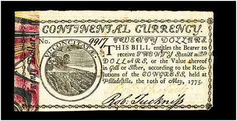Early Paper Money of America / Continental Currency / 1775 May 10