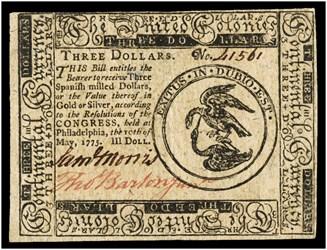 May 10, 1775 $3