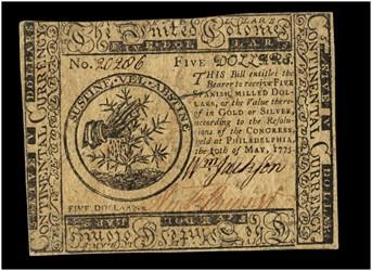 May 10, 1775 $5