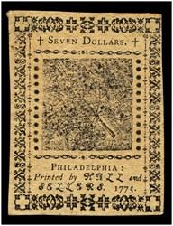 May 10, 1775 $7