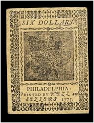 May 10, 1775 $6