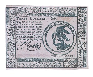 Early Paper Money of America / Continental Currency / 1777 May 20