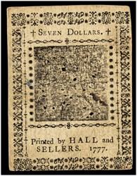 May 20, 1777 $7