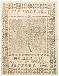 July 22, 1776 $6