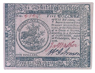 Early Paper Money of America / Continental Currency / 1776 November 2