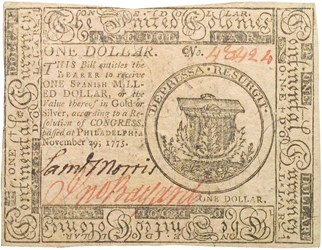 Early Paper Money of America / Continental Currency / 1775 November 29