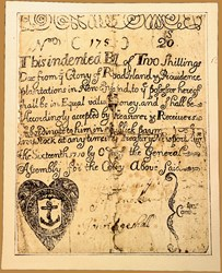 Early Paper Money of America / Rhode Island / August 16, 1710