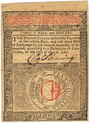 Early Paper Money of America / Virginia / May 1, 1780 Act
