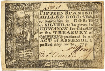 Early Paper Money of America / Virginia / May 3, 1779 Act