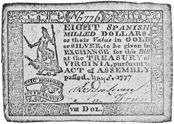 Early Paper Money of America / Virginia / May 5, 1777 Act