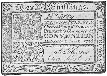 Early Paper Money of America / Virginia / May 6, 1776 Ordinance