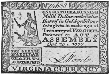 Early Paper Money of America / Virginia / 1777 October 20 Act