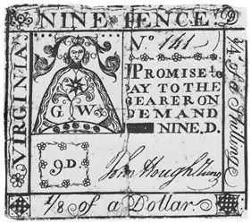 Early Paper Money of America / Virginia / Special Issuers / John Hough