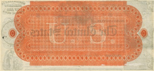 One-year Interest Bearing Note of 1837 (reverse)