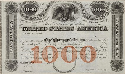 $1,000 Registered Loan of 1847