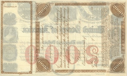 $2,000 Registered Loan of 1847