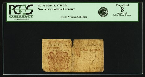 Early Paper Money of America / New Jersey / 1755 May 15
