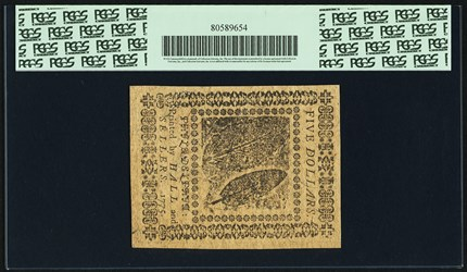 November 29, 1775 $5