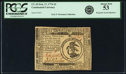 February 17, 1776 $3