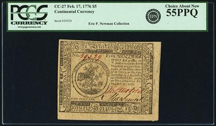 February 17, 1776 $5