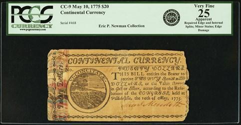 May 10, 1775 $20