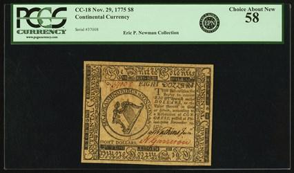 November 29, 1775 $8