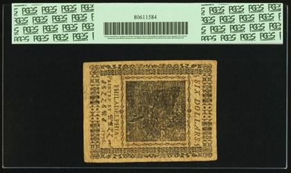 February 17, 1776 $6