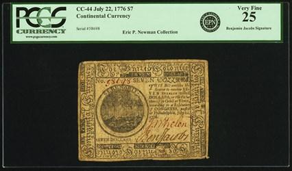 July 22, 1776 $7