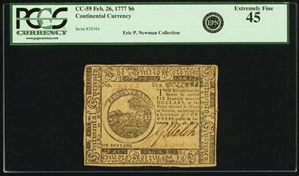February 26, 1777 $6