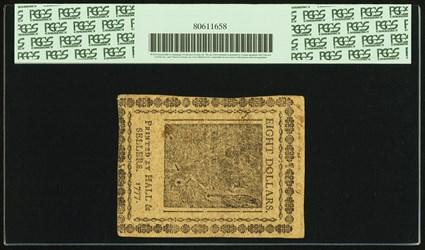February 26, 1777 $8