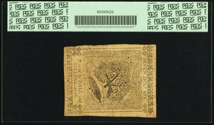 April 11, 1778 $7