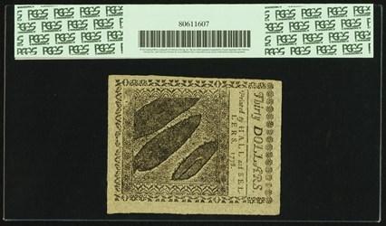 September 26, 1778 $30