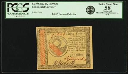 January 14, 1779 $30