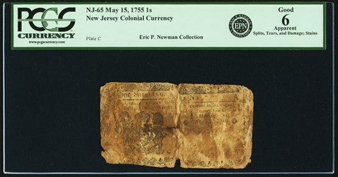 Early Paper Money of America / New Jersey / 1756 January 26