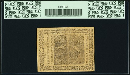 November 29, 1775 $2