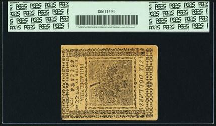 November 2, 1776 $6