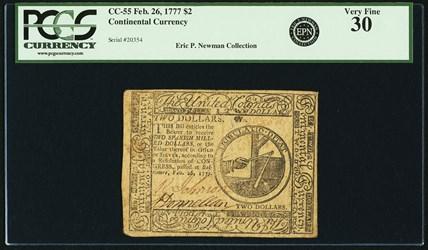 February 26, 1777 $2