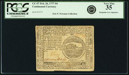 February 26, 1777 $4