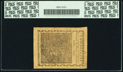 January 14, 1779 $2