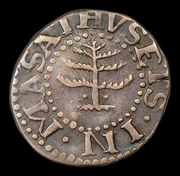 1652 Pine Tree 6 Pence, With Pellets