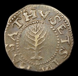 1652 Pine Tree Shilling, Large Planchet, Reversed N
