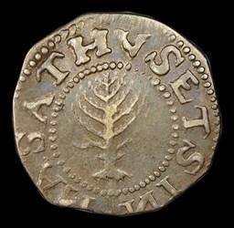 1652 Pine Tree Shilling, Large Planchet, Reversed N