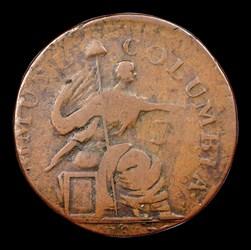 1785 Immune Columbia Piece, George III Obverse, BN
