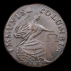 1787 Immunis Columbia Piece, Eagle Reverse, BN