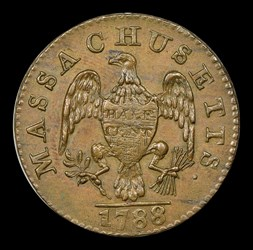 1788 Massachusetts Half Cent, BN