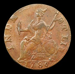 1786 Connecticut Copper, Mailed Bust Left, BN